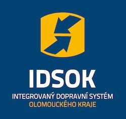 Logo IDSOK (Integrovaný dopravní systém Olomouckého kraje)