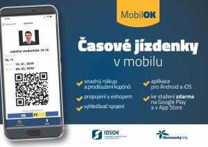 Ilustrační foto - MobilOK – časové jízdenky v nové mobilní aplikaci - IDSOK 4