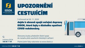 Ilustrační foto - Upozornění cestujícím - IDSOK 1